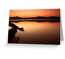 lake yoga! Greeting Card