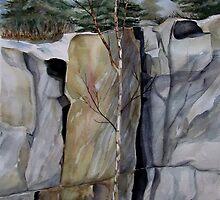 The Three Columns - Pukaskwa National Park, Heron Bay, Ontario Canada by loralea