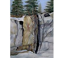 The Three Columns - Pukaskwa National Park, Heron Bay, Ontario Canada Photographic Print