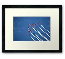Red arrows flying 'V' (RIAT 2009) Framed Print