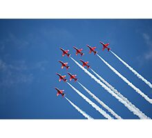 Red arrows flying 'V' (RIAT 2009) Photographic Print