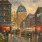 Evening's Delight In Paris Oil Painting HS0210 by yelia0722