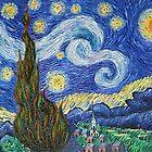 Starry Night  Oil PaintingHS0221 by yelia0722