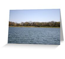 Looking Across the Lake Greeting Card