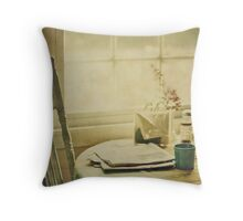 Morning Read Throw Pillow