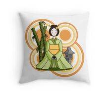 Sunburst Geisha Throw Pillow