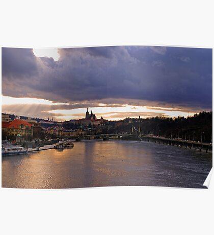 Vltava after rainfall Poster