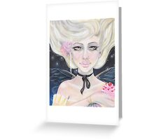 Marie Antoinette and the cherry topped cupcake Greeting Card