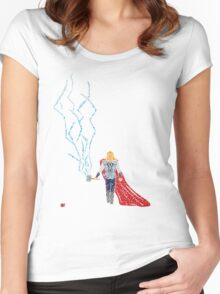 God Of Thunder Women's Fitted Scoop T-Shirt