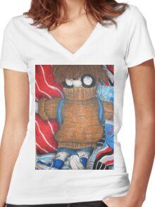 Rag doll Women's Fitted V-Neck T-Shirt