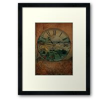 Behind Time Framed Print