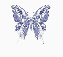 PORCELAIN BUTTERFLY Womens Fitted T-Shirt