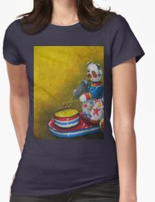Wind up Panda toy Womens Fitted T-Shirt