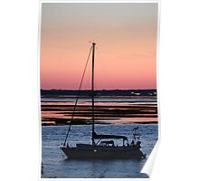Sunset Anchorage Poster