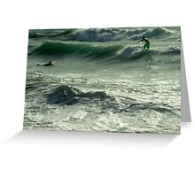 Green Swell Greeting Card
