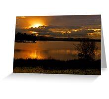 Sunset At Lake Samsonvale. Brisbane, Queensland, Australia. Greeting Card