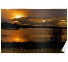 Sunset At Lake Samsonvale. Brisbane, Queensland, Australia. Poster