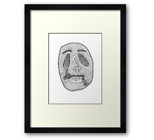 When The Drugs Kick In Framed Print