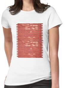 Brick Wall (add your own 'graffiti'?) Womens Fitted T-Shirt