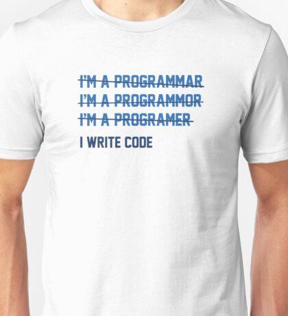 I Write Code Unisex T-Shirt