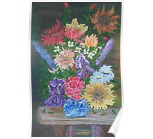 Flemish Floral Poster