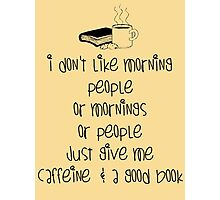 Caffeine and books Photographic Print