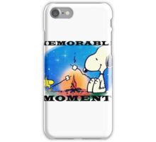 snoopy and woodstock, memorable moment  iPhone Case/Skin