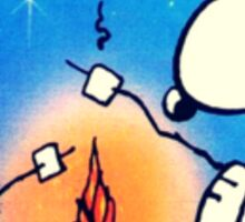 snoopy and woodstock, memorable moment  Sticker
