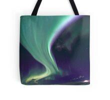 Aurora Borealis by the road Tote Bag