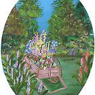 Flower Cart by Mikki Alhart