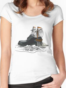 Shoe yacht Women's Fitted Scoop T-Shirt