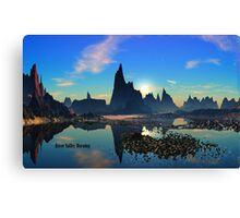 River Valley Morning Canvas Print