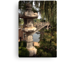 Japanese Bridge at the entrance to Sansho-En Canvas Print