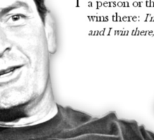 Charlie Sheen - Bi-winner Sticker