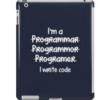 I Write Code iPad Case/Skin