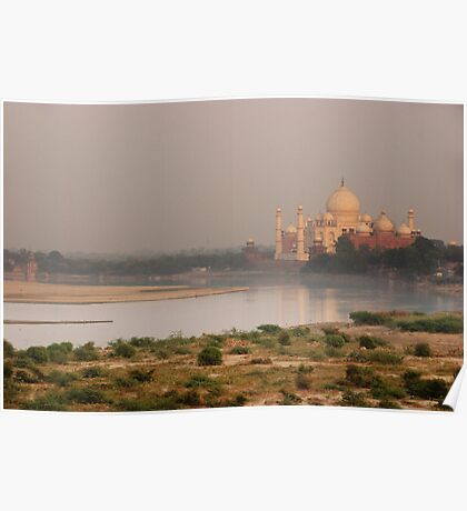 Taj Mahal from Agra Fort Poster