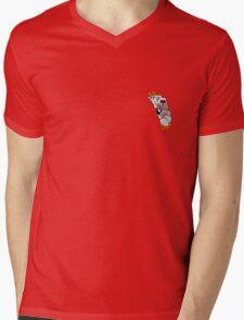 Born Lucky (small) Mens V-Neck T-Shirt