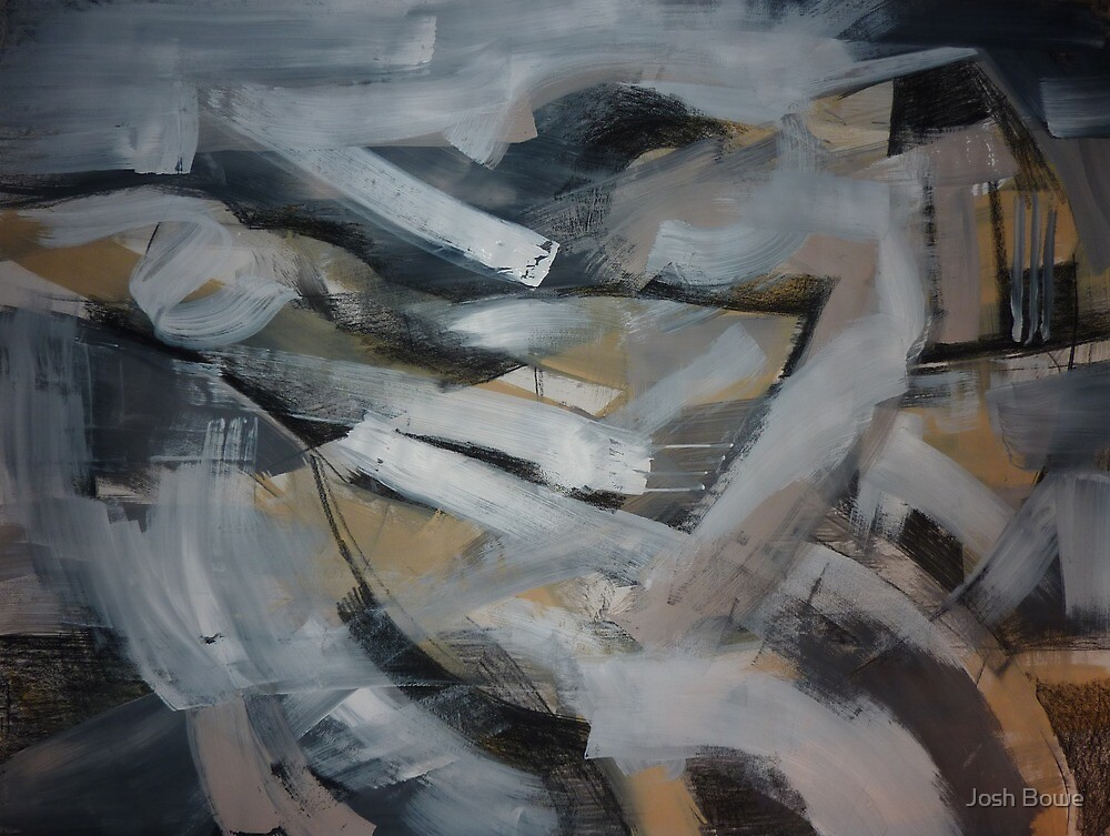 Charcoal and Acrylic Abstraction 11 by Josh Bowe