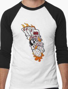 Born Lucky (large) Men's Baseball ¾ T-Shirt