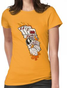 Born Lucky (large) Womens Fitted T-Shirt