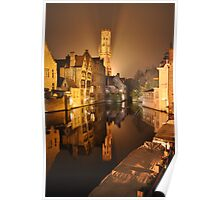 Bruges Reflection Poster