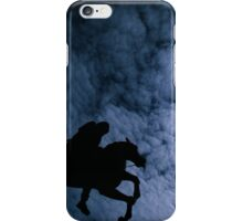 hourse in sky sun moon iPhone Case/Skin