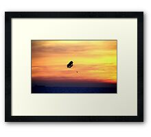 Sunset at Beach Framed Print