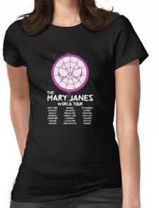 Mary Jane`s World Tour Womens Fitted T-Shirt