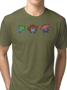 Oddish, Gloom, Vileplume Tri-blend T-Shirt