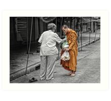 Collecting Alms Art Print