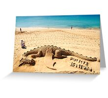 Welcome to Fuerteventura island Greeting Card