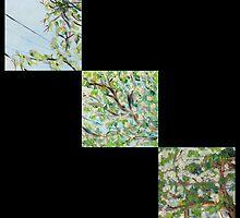 False Spring Triptych Print by Amy-Elyse Neer