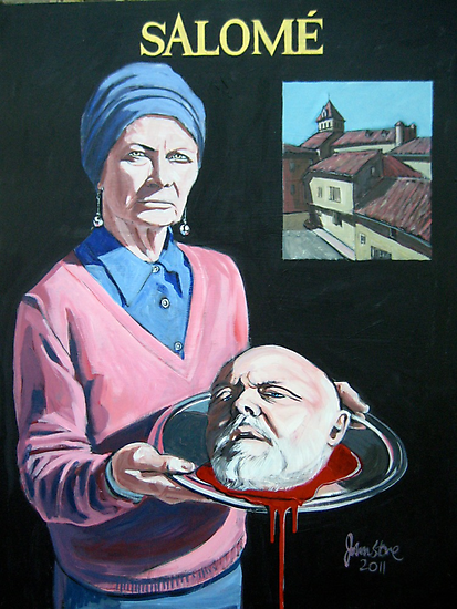SALOME WITH THE HEAD OF JOHN THE BAPTIST by Ray  Johnstone