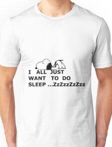 snoopy sleep Unisex T-Shirt